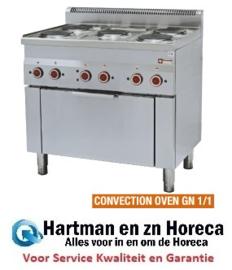 E60/5PFV9 - Fornuis 5 kookplaten en elektrische convectie-oven GN 1/1 - Diamond Pro 600