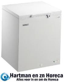 412452122 - Bedrijfsklare EL 22-NC commerciële, vrieskist 215 liter met statische koeling, met geschuimde klapdeksel  NORDCAP