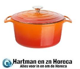 GH303 - Vogue ronde braadpan 4 ltr oranje