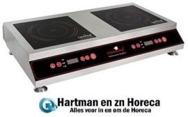 688061 - Inductie tafelmodel kooktoestel 2 x 3500 Watt Caterchef