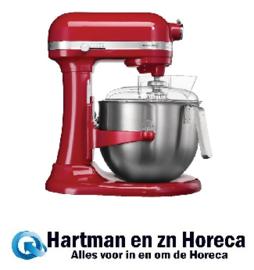 CA987 - KitchenAid professionele mixer 6,9ltr Vermogen: 500W/230V. Kleur: rood.