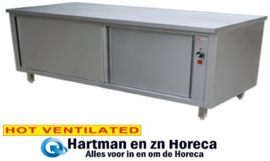 TE127/B - Warmtekast met 2 schuifdeuren mm (L x B x H) 1200 x 700 x H880/900 DIAMOND