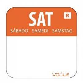 L936 - Kleurcode sticker zaterdag/oranje