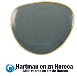 GP342 - Olympia Kiln driehoekige borden blauw 23cm