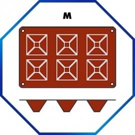070062 - BAKMAT PYRAMID 1/3 GN in blister-verpakking  71 X 71 MM / HOOG 40 MM