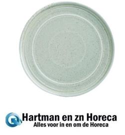 FB563 -Olympia Cavolo plat rond bord zacht groen 22cm