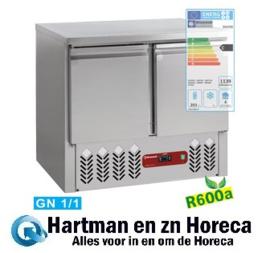 SA2/R6 - Koelwerktafel 2 deuren GN 1/1, 240 Lit mm (BxDxH) : 900x700xh870/890 DIAMOND