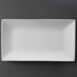 CC895 - Olympia  rechthoekige serveerschaal Wit 31 x 18 cm. Prijs per 2 stuks.