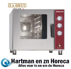 DFV-511/P - Elektrische oven stoom/convectie, 5x GN 1/1 DIAMOND