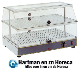 304400 - Rollergrill warmhoudvitrine - 600x400x390 mm (bxdxh)