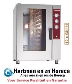 DFV-1011/P - Elektrische oven stoom-convectie, 10x GN 1/1 DIAMOND