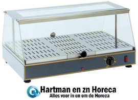 304300 - Rollergrill warmhoudvitrine - 350x590 mm (bxd)
