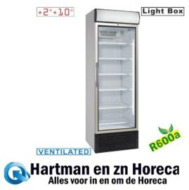 E50PC/R6 - Geventileerde koelkast vitrine 500 liter, met lichtbak DIAMOND