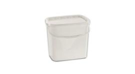 0114622 - Emmer 10 liter met deksel en draag beugel wit plastic