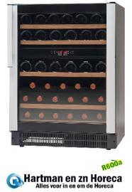 477800045 - Wijnklimaatkast, bedrijfsklaar 45 flessen vrijstaand of inbouwversie, zwart, met 1 glazen deur NORDCAP W45