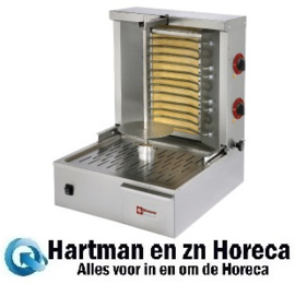 KEB-E40 - Elektrische gyros - shoarma - doner grill 20 kg DIAMOND
