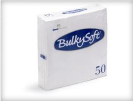BULKYSOFT SERVETTEN 33 X 33  X 2 LAAGS 1/4 VOUW