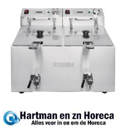 FC375 -Buffalo dubbele friteuse 2x8L 2900W met timer