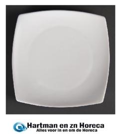 U172 - Olympia vierkant bord met afgeronde hoeken Wit 30,5cm. Prijs per 6 stuks.