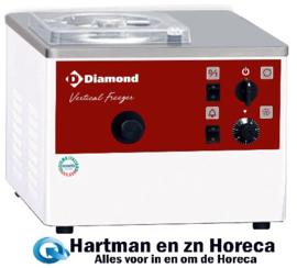 TGB/5  - Vertikale ijsturbine, tafelmodel, 5 liter/u, watercondensator DIAMOND