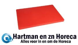 HC878 -Hygiplas LDPE extra dikke snijplank rood