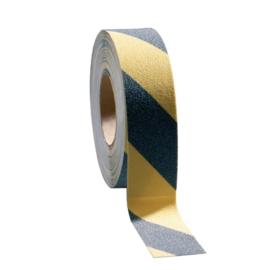 CD543 - Coba antislip tape zwart-geel gestreept Afmeting  5(b)cm x 1,83m