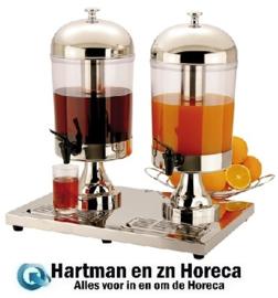537012 - Buffet dranken dispenser  dubbel 2 x 8 liter