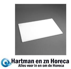 HC860 -Hygiplas antibacteriële LDPE snijplank wit 450x300x10mm