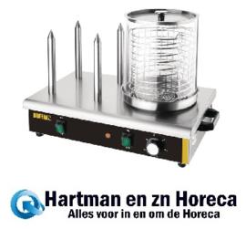 DA566 -Buffalo hotdogwarmer met 4 warmhoudpennen
