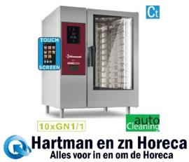 """SDET/XC-10 - Combisteamer elektrische oven """"TOUCH"""", directe stoom en convectie 10x GN 1/1 + Cleaning DIAMOND"""
