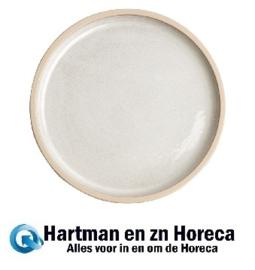 FA329 -Olympia Canvas platte ronde borden wit 25cm