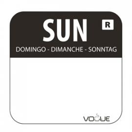 L930 - Kleurcode sticker zondag/zwart