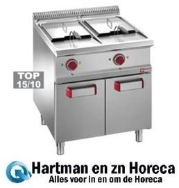 E7/F26A7 - Elektrische friteuse 2 kuipen 13 liter op kast DIAMOND Optima 700