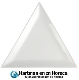 U166 - Olympia Whiteware driehoekige borden 16,5cm. Prijs per 12 stuks.