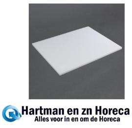 J252 -Hygiplas standaard snijplank met lage dichtheid wit 45x30x1,25cm wit
