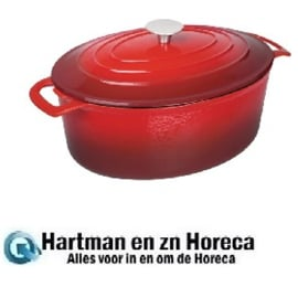 GH314 - Vogue ovale braadpan 6 liter rood