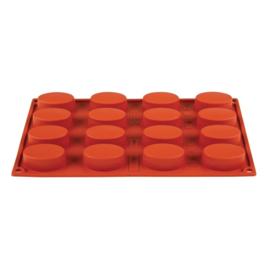 N951 - Pavoni Formaflex siliconen bakvorm 16 ovalen