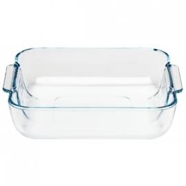 GD029 - Glazen ovenschaal Pyrex vierkante schaal 210x210mm