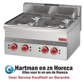 GN018 - Gastro M 600 elektrische kookplaat 60/60 PCE