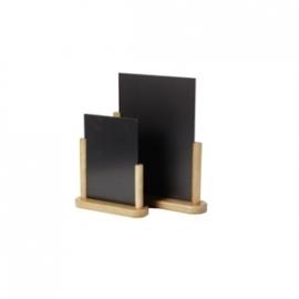 Y870 - Elegant tafelbordje teak Afmeting: 21x30cm