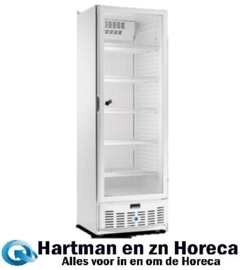 ARV400SC -Geventileerde gekoelde vitrine koelkast met glazendeur 320 Liter met led verlichting  TOPCOLD