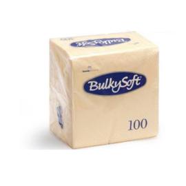 T32077 - Bulkysoft Servetten 2 Laags 40×40 1/4 Vouw 2000 st Crème