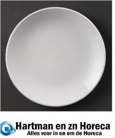 U081 - Olympia Whiteware coupe borden - Bord 31cm. Prijs per 6 stuks.