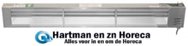 134350006 - Voedselwarmer 123 cm roestvrijstaal, met aan/uit schakelaar