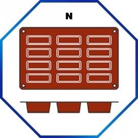 070063 - BAKMAT CAKE 1/3 GN in blister-verpakking 79 X 29 MM / HOOG 30 MM