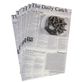 GF036 - Vetvrij papier krant opdruk 27 x 42 cm (500 vel)