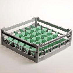DB136  - Mand met afscheider voor 36 glazen Ø 73 mm, h130 mm - Polypropyleen