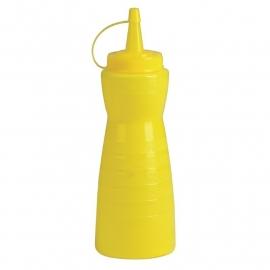 GF252 - Vogue knijpfles met dop 340 ml geel