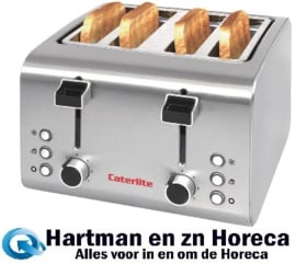 CP929 -Caterlite broodrooster 4 sleuven RVS