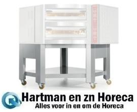 """SCGD2-DG - Onderstel pizza oven """" imitatie roestvrijstaal"""" x CGD/2-DG 5 wielen, waarvan 2 met remmen DIAMOND"""